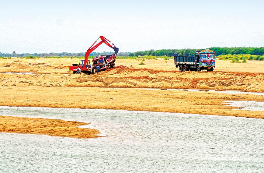Sand mining is still a menace