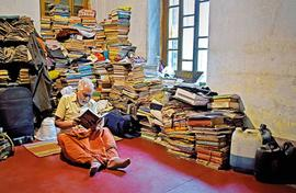 Finding P.T. Nair among his old books in Kolkata