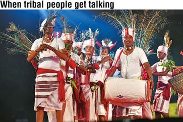 When tribal people get  talking