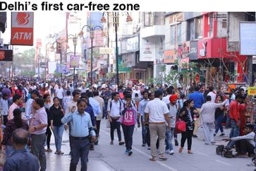 Delhi's first car-free zone